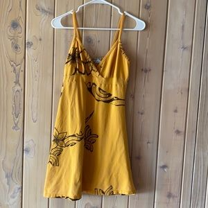 Hawaiian/Polynesian Mustard Yellow Wahine Dress• M